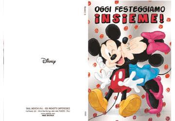 Immagine di Biglietto compleanno Mickey e Minnie metal