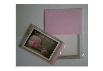 Immagine di Biglietto glitter nascita con busta rosa
