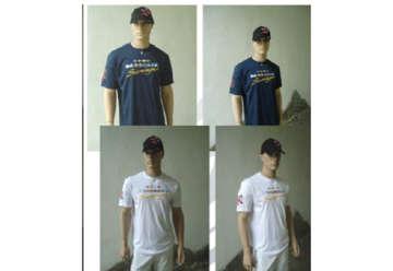 Immagine di T-shirt bianca bandierine nautiche 100% in cotone tg S