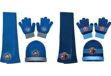 Immagine di Set invernale: sciarpa, guanti e cappello Avengers