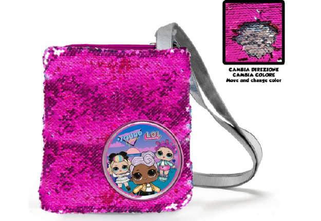 Immagine di Face to face Lol borsa tracolla paillettes