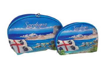 Immagine di Set 2 Pochette Ovali Sardegna 18x15cm e 14,5x12cm