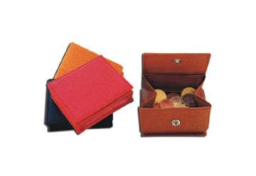 Immagine di Porta monete riccio a soffietto 4 colori assortiti 24 pz