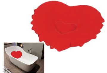 Immagine di Cuscino cuore rosso per vasca
