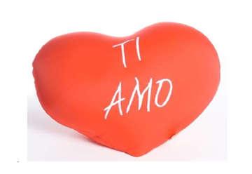 Immagine di Cuscino a forma di cuore morbido Ti Amo