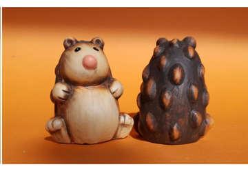 Immagine di Riccio in ceramica 5.5x5.5x7cm