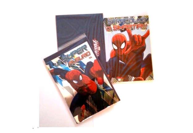 Immagine di Biglietto glitter compleanno Spiderman con busta