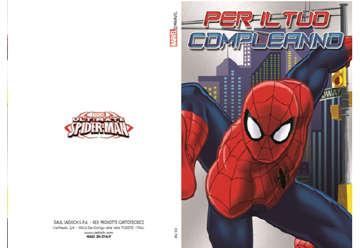 Immagine di Biglietto compleanno Spiderman con busta