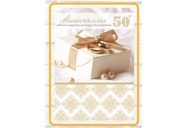 Immagine di Biglietto 50° anniversario matrimonio