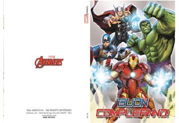 Immagine di Biglietto glitter compleanno Avengers con busta