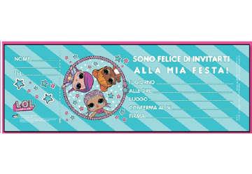 Immagine di Inviti a festa LOL - Blocchetto 20pz