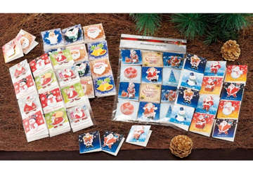 Immagine di Biglietti auguri natalizi 24pz 5.5x5.5cm