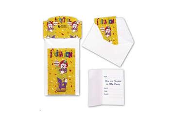 Immagine di Set 6 biglietti invito clown con busta