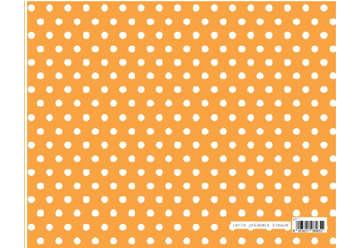 Immagine di Foglio carta regalo 70x100cm Arancione Pois