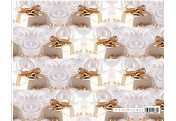 Immagine di Foglio carta regalo 70x100cm New matrimonio