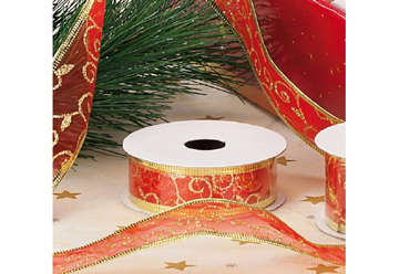 Immagine di Nastro organza natalizio expo 48