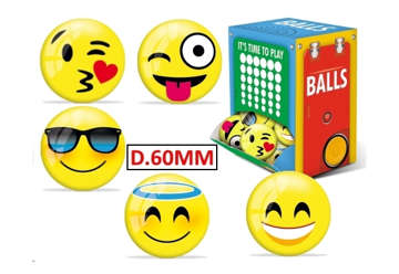 Immagine di Palline miniball emoticon balls Ø 60
