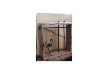 Immagine di Portafoto Fenicottero in Legno Antico modelli assort.