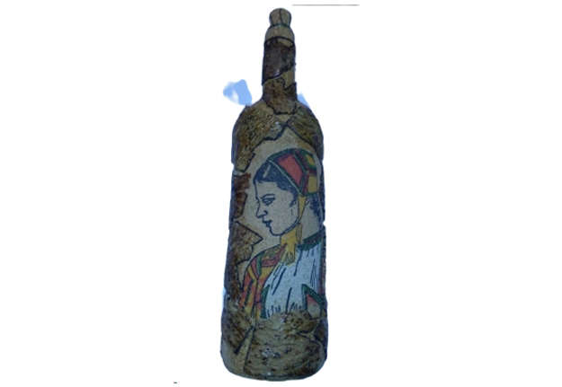 Immagine di Bottiglia sughero con decori Sardegna