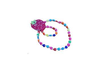 Immagine di Collana + bracciale bimba cuori e perline