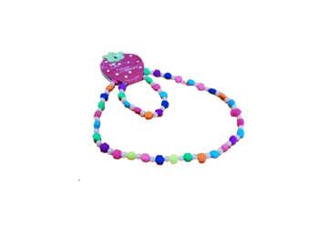 Immagine di Collana + bracciale bimba fiore e perline