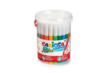 Immagine di Carioca pennarelli jumbo in barattolo 50pz