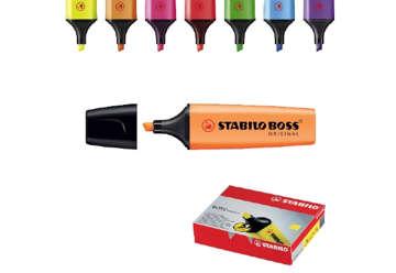 Immagine di Stabilo boss evidenziatore arancione in box 10 pezzi