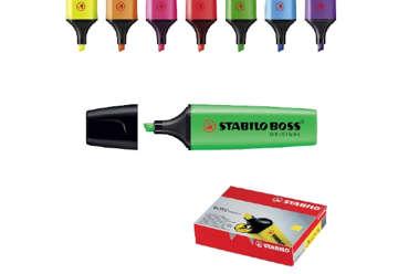 Immagine di Stabilo boss evidenziatore verde in box 10 pz
