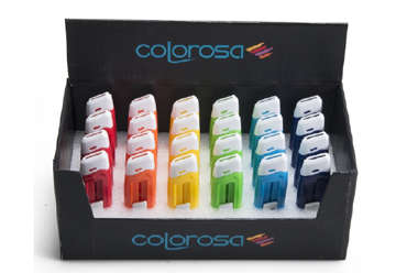 Immagine di 24 cutter ceramica colorosa in display 6 colori ass