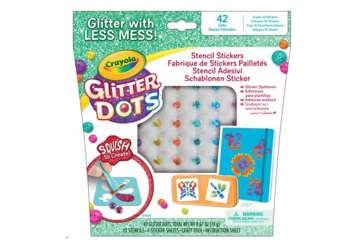 Immagine di Glitter dots - Stencil Adesivi