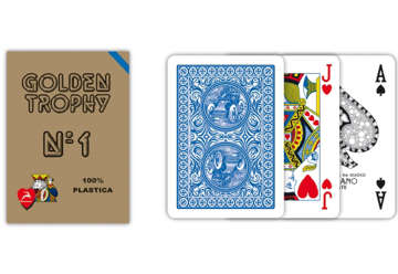 Immagine di Carte poker golden trophy blu
