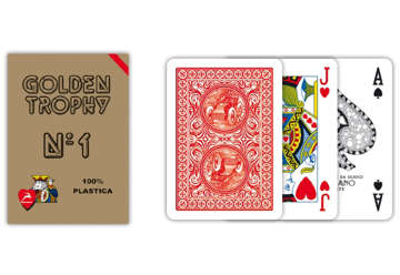 Immagine di Carte poker golden trophy rosso