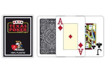 Immagine di Carte texas poker 2 jumbo index nero