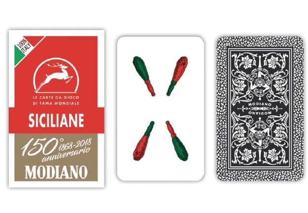 Immagine di Carte siciliane rosso 150 modiano