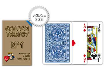 Immagine di Carte bridge golden trophy blu