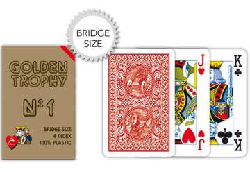 Immagine di Carte bridge golden trophy rosso