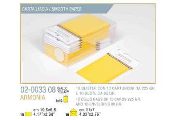 Immagine di Blister 10buste + 10biglietti armonia 7x11 f4 giallo