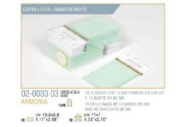 Immagine di Blister 10buste + 10biglietti armonia 7x11 f4 verde pastello