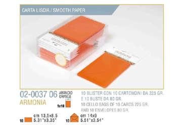 Immagine di Blister 10buste + 10biglietti armonia 9x14 f9 arancio
