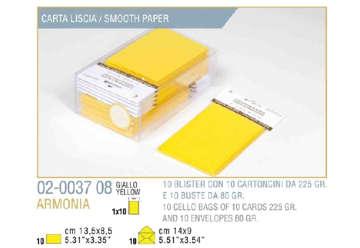 Immagine di Blister 10buste + 10biglietti armonia 9x14 f9 giallo