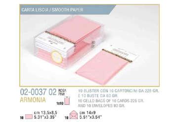 Immagine di Blister 10buste + 10biglietti armonia 9x14 f9 rosa