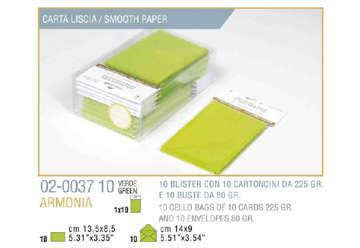 Immagine di Blister 10buste + 10biglietti armonia 9x14 f9 verde mela