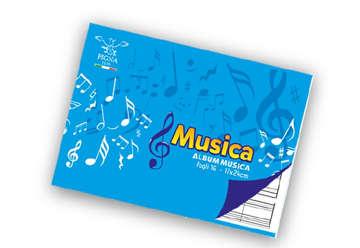 Immagine di Quaderno musica Pentagrammato 17x24cm