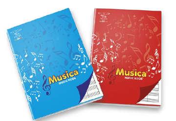Immagine di Quaderno A4 pentagrammato musica