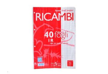 Immagine di Ricambi Pigna  A4 1 rigo 1R 40fogli