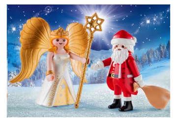 Immagine di Babbo Natale con Angelo