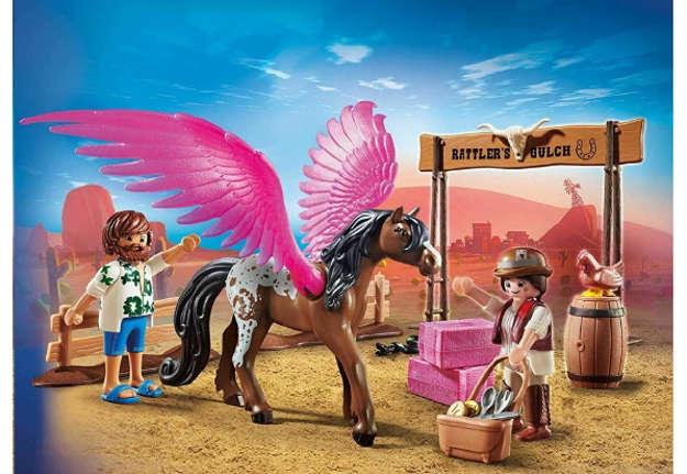 Immagine di Playmobil: The Movie MArla e Del con cavallo alato