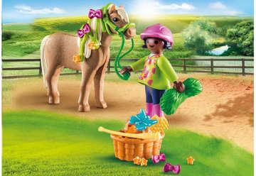 Immagine di Ragazza con pony