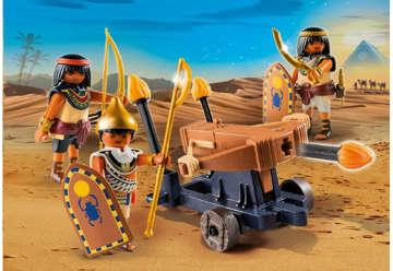 Immagine di Soldati egizi con lanciadardi