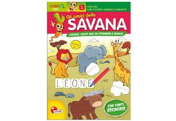Immagine di Albi stickers animali e ambienti - Gli amici della savana